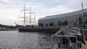 Flotilla arrives at Pacific Quay