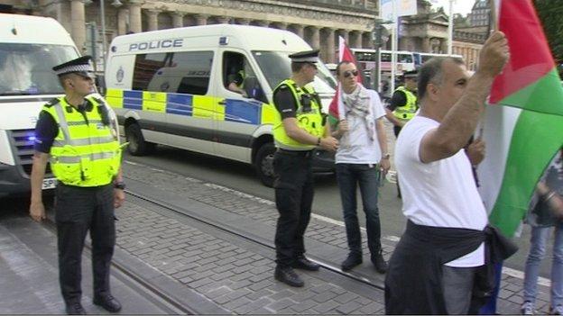gaza protest in edinburgh
