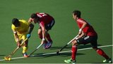 Wales hockey team in action