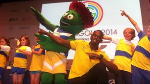 Usain Bolt is in Glasgow