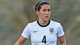 Fara Williams playing for England