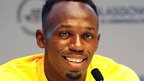 A relaxed Usain Bolt spoke to journalists in Glasgow