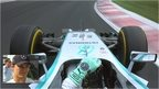 Nico Rosberg on his way to pole in Hungary