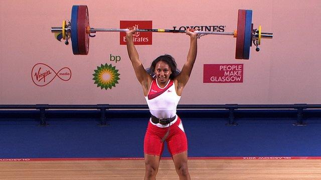 Glasgow 2014: Zoe Smith wins 58kg weightlifting gold