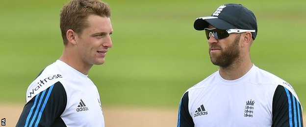Jos Buttler and Matt Prior of England