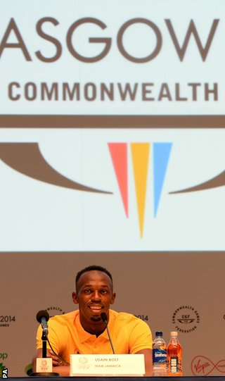 Bolt is competing in his first Commonwealth Games
