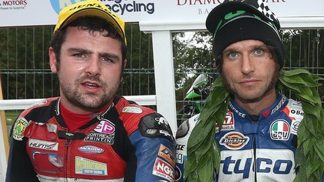Michael Dunlop and Guy Martin at the Armoy meeting
