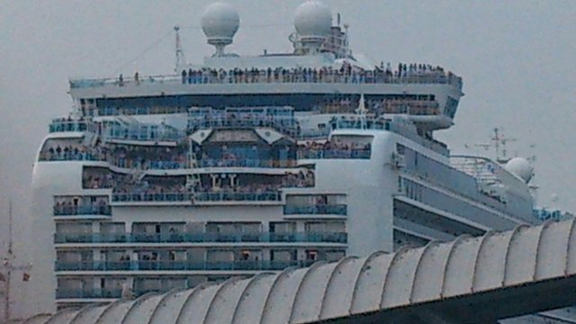 Ferry crowd