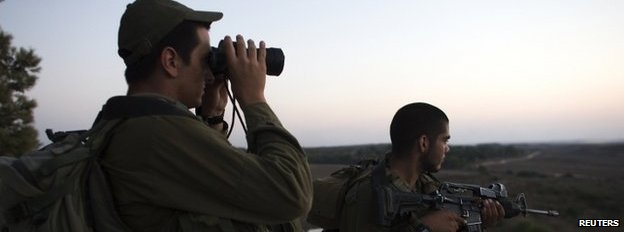 Israeli soldiers near the border with Gaza. Photo: 26 July 2014