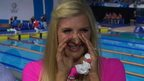 Glasgow 2014: Rebecca Adlington's tears for Adam Peaty gold