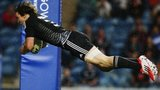 New Zealand's Sam Dickson scores a try against Barbados at the 2014 Commonwealth Games