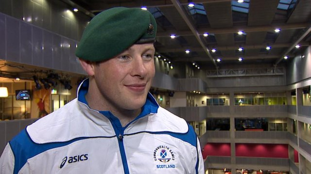 Commonwealth gold medal winner, and Royal Marine, Chris Sherrington
