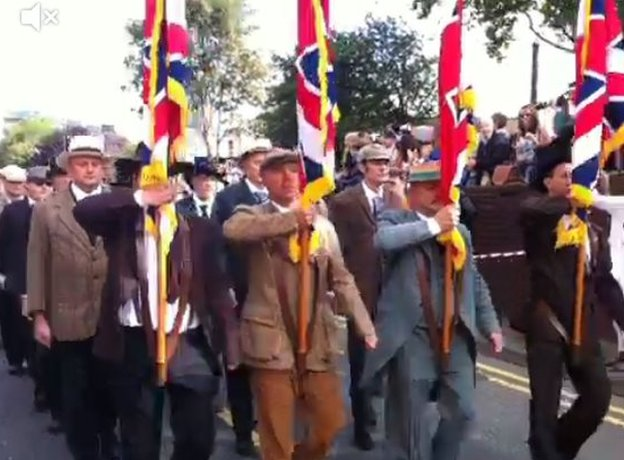 Liverpool Pals marching to war