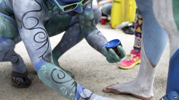 Bodypainting in New York