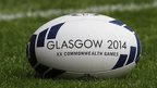 The official Glasgow 2014 Rugby Sevens match ball