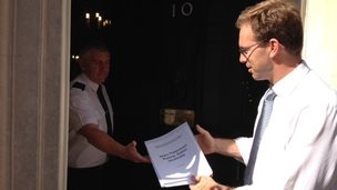 Tobias Ellwood at Downing Street