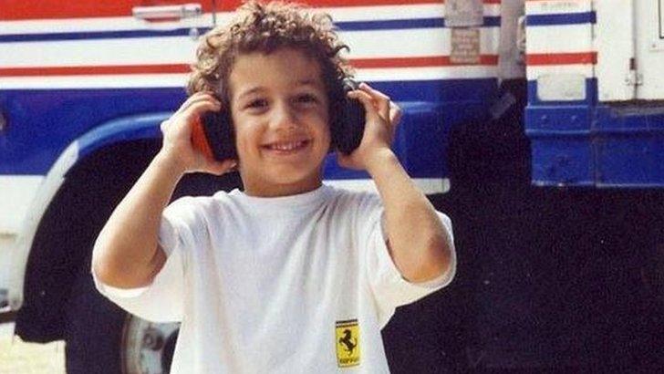 A young Daniel Riccardo