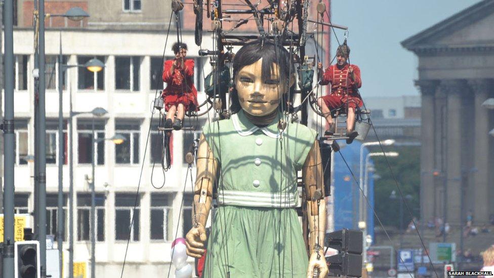 Giant Little Girl marionette
