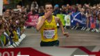 Australian Michael Shelley wins Commonwealth gold in the men's marathon in Glasgow.