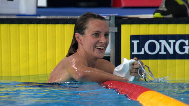 Welsh swimmer Jazz Carlin
