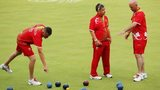 Wales' lawn bowls team at Glasgow 2014