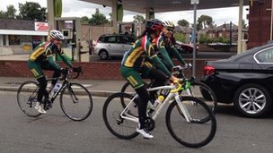 South African cyclists