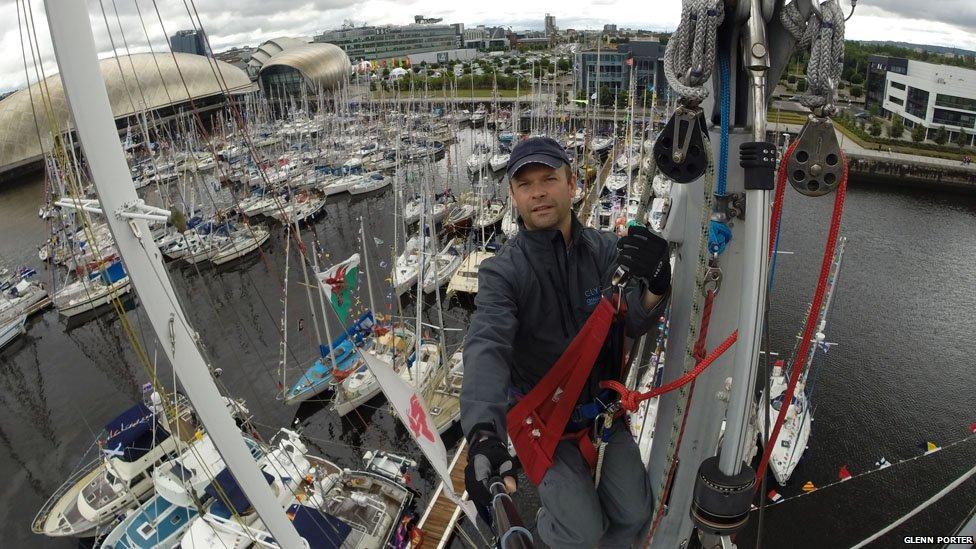 Glenn Porter abroad the Clyde Challenger