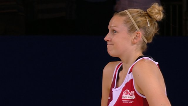England's Joanne Harten waits to be introduced to the crowd