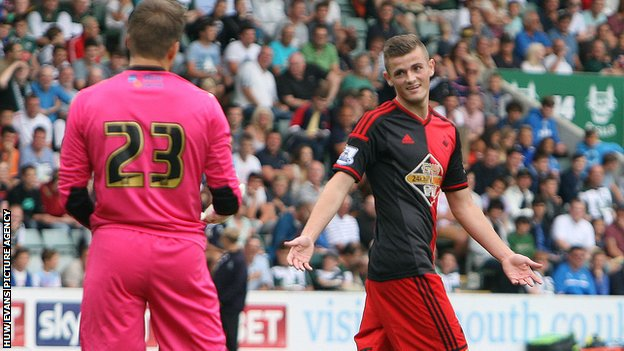 Swansea striker Rory Donnelly
