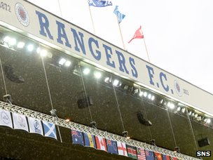 Rangers say they will not grant security over Ibrox to any organisation during the upcoming football season.