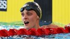 England's Fran Halsall earns her second gold medal of the Commonwealth Games