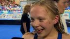 13-year old Erraid Davies wins swimming bronze