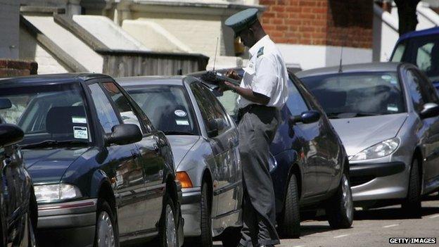 Parking warden
