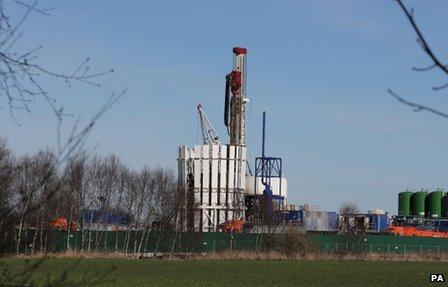 A test fracking site near Manchester