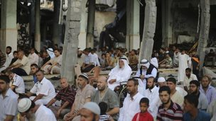 Palestinians mark Eid in Rafah, 28 July