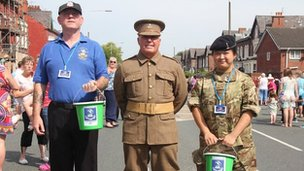 Collectors for the Liverpool Pals memorial fund