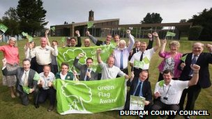 Durham County Council celebrates Green Flag awards
