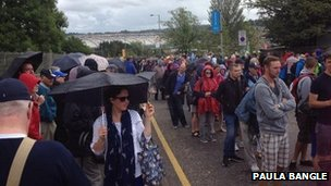 Queues outside Hampden