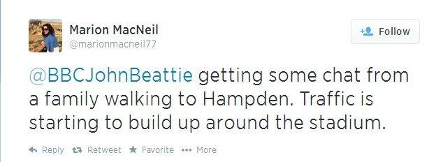 tweet from Marion MacNeil