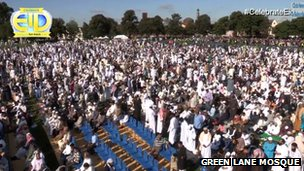 Eid prayers in Small Heath Park at 9am