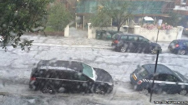 Hailstorm in Brighton