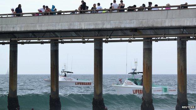 Lifeguard boats at Venice Beach