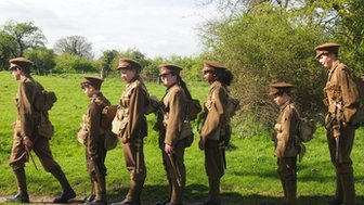 Children in WW1 uniform for The Big Performance
