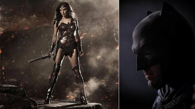 Gal Gadot as Wonder Woman and Ben Affleck as Batman