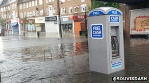 Flooding in Ruislip