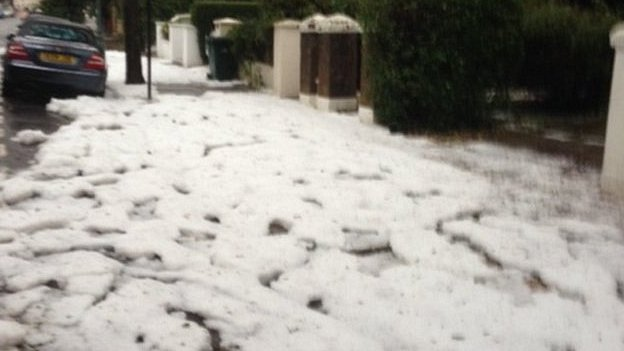 Hailstorm in Hove