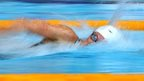 Wales' Jazz Carlin swimming at the Commonwealth Games