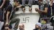 Swastika among Gaza solidarity protesters in Paris, 26 Jul 14