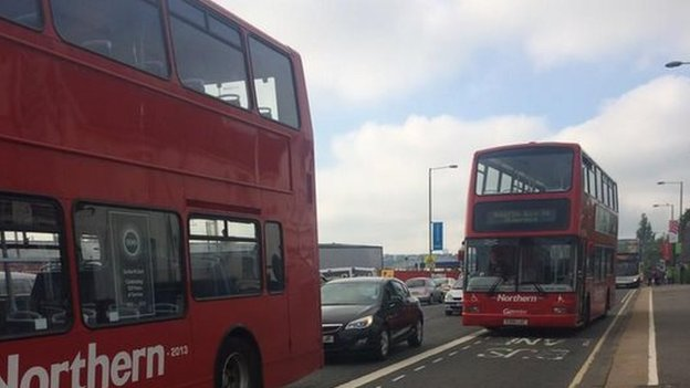 Shuttle busses heading back to Glasgow