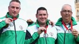 Northern Ireland's triples bowlers celebrate silver